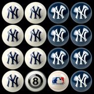 NY Yankees Pool Balls