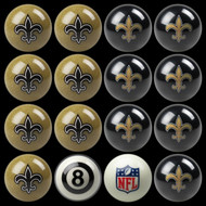 New Orleans Saints Pool Balls