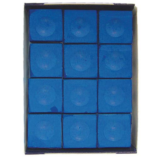 Silver Cup Chalk, Electric Blue, 12-Piece Box