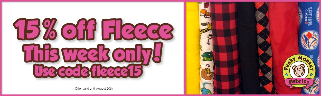 Save 15% on fleece this week!