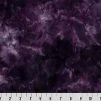 Plum Galaxy Luxe Minky - 1/2 yard