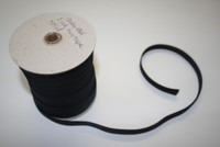 "Black Double fold Bias Tape 1/2"" – Sold by the yard"