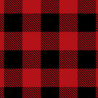 Scarlet/Black Buffalo Check Minky - 1/2 yard
