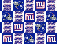 NFL New York Giants Fleece - 1/2 yard