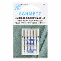 Schmetz Sharp/Microtex Machine Needles 12/80 (5 pack)