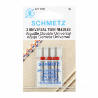 Schmetz Twin Machine Needle Various Sizes 3 pack