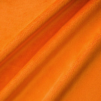 Orange Minky Smooth - 1/2 yard