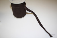 "Chocolate Brown Double fold Bias Tape 1/2"" – Sold by the yard"