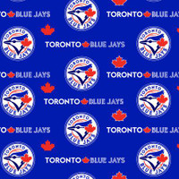 "MLB Toronto Blue Jays 60"" Wide Cotton 10 yard BOLT"