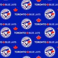 "MLB Toronto Blue Jays 60"" Wide Cotton 10 yard BOLT"
