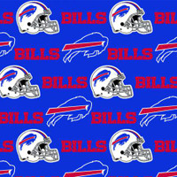 "NFL Buffalo Bills 60"" Wide Cotton - 1/2 yard"