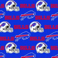 "NFL Buffalo Bills 60"" Wide Cotton - 1/2 yard"