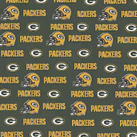 "NFL Green Bay Packers 60"" Wide Cotton - 1/2 yard"