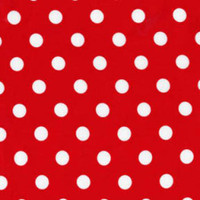 Red with White That's It Dots  - 1/2 yard