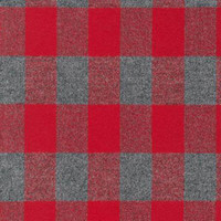 Red/Grey Plaid Mammoth Flannel - 1/2 yard
