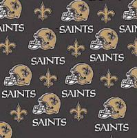 "NFL New Orleans Saints 60"" Wide Cotton - 1/2 yard"