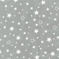 White Stars on Grey Flannel - 1/2 yard
