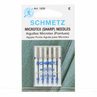 Schmetz Sharp / Microtex Machine Needles Size 60/70/80 (5 pack)