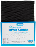 Mesh Lite Weight Black - 18x54""
