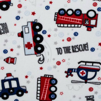 To The Rescue Scarlet Minky - 1/2 yard