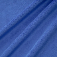 Electric Blue Minky Smooth - 1/2 yard
