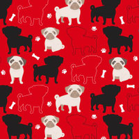 Oh My Pug-ness Anti-Pill Fleece - 1/2 yard