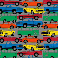 Multi Transportation Way Cars Anti-Pill Fleece - 1/2 yard
