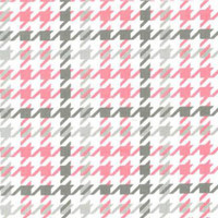 Bubblegum Houndstooth Flannel - 1/2 yard