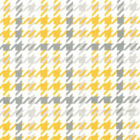 Yellow/Grey Houndstooth Flannel - 1/2 yard