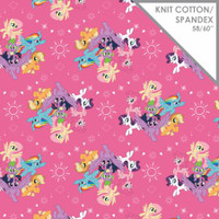 Pink My Little Pony Knit - 1/2 yard