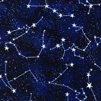 Glow In The Dark Constellations - 1/2 yard