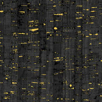 "Black With Metallic ""Uncorked"" Cork Like Appearance - WIndham Fabrics Cotton - 1/2 yard"