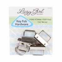Key Fob Hardware Set of 4 - 1.25""