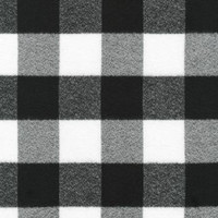 Mammoth Black/White Plaid Flannel - 1/2 yard