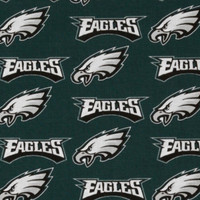 "NFL Philadelphia Eagles 60"" Wide Cotton - 1/2 yard"