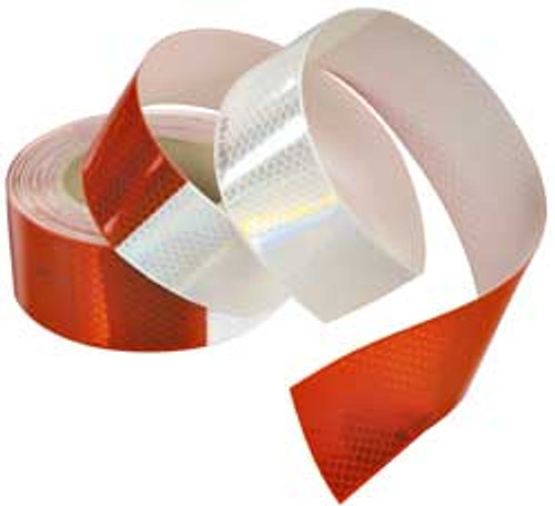 Super Reflective Red/White Safety Tape (Sold Per Foot)