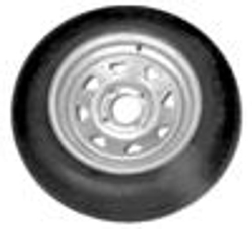 480x12  LRB Tire on 4 lug Galvanized Trailer Rim