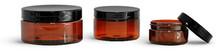 8 Oz Amber PET Jar With Caps