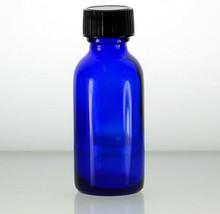 1/2 oz, 15 ml Cobalt Blue Boston Round Glass Bottles w/Caps