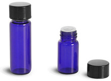 1/4 Dram Cobalt Blue Vials with Orifice Reducer & Caps