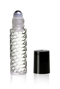 10ml, (1/3oz) Swirl Roll on Bottles