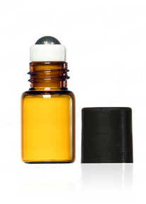 3 ml Amber Glass Vials with metal roll on bottle