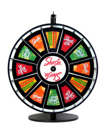 24 Inch Insert Your Own Graphics Prize Wheel with Black Magnetic Frames