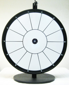 24 Inch Standard White Prize Wheel with 14 section lines