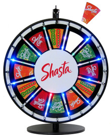 24 Inch Insert Your Own Graphics Lighted Prize Wheel with Blinking LEDs