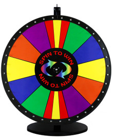 36 Inch Spin to Win with Special Sections Color Dry Erase Prize Wheel