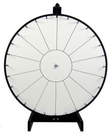 30 Inch Standard White Prize Wheel with 14 section lines
