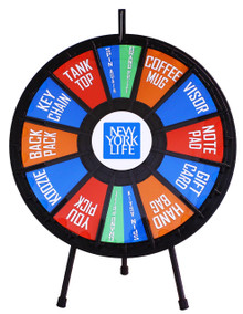 "31"" Insert Your Own Graphics Prize wheel with 12-24 Slots"