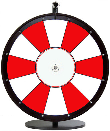 """24"""" Red and White Color Dry Erase Prize Wheel"""
