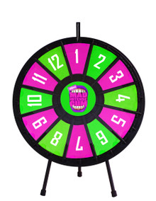 "26"" Insert Your Own Graphics Prize wheel with 12 slots"